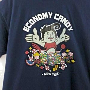 Jerzees Mens XL Blue T Shirt Economy Candy New Yor